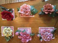 Twelve months of porcelain roses by Franklin Mint