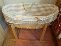Moses basket & stand Laura Ashley