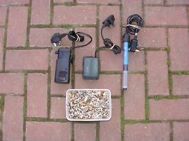 used Heater+ small filter + air pump starter kit for fish tank aquarium koa