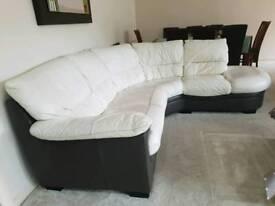Dfs right hand corner leather sofa 5 seats