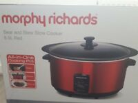 Morphy Richards Sear and Stew Slow Cooker 6.5L Red