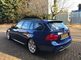 2009 BMW 318I TOURING M SPORT,LE MANS BLUE, FACELIFT,STOP/START WITH F/S/H