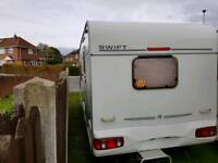 2002 YEAR CARAVAN SWIFT CHARISMA WITH MOTOR MOVER, AWNING AND FULL EQUIPMENT