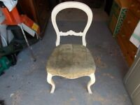 2 x Antique chairs 1x Balloon Back & 1 x All Wood