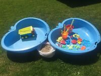 Chad Valley Blue Sand and Water Pit.Free sand and toys.