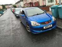 Honda Civic mk7 Ep2 Sport - Full Ep3 Type R Replica - Breaking on parts...