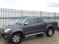 2010 TOYOTA HILUX D/C 3.0 D4-D INVINCIBLE AUTO 4X4 GREY ++ FULL LEATHER INTERIOR!! ++