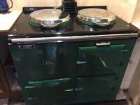 Oil fired Aga range cooker