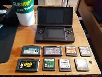 Nintendo Ds Black with 8+ games