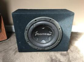 Pioneer Car Sub Woofer and Amplifiers