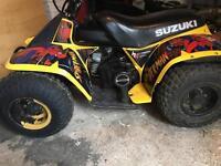 Suzuki LT50 quad Spider Man graphics LT 50 kids quad atv 50cc