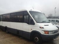 IVECO DAILY IRIS BUS 2.8 22 seater DPV Ideal motor home conversion free roadtax coif 9metre 195825km