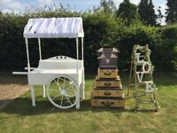 Sweetcart/Vintage Suitcases/love ladder props