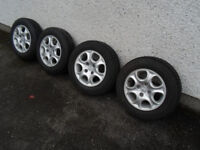 Peugeot Alloy Wheels and Tyres. 14""