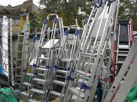8 steps with platform heavy duty step ladder