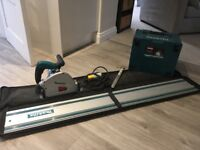 Makita plunge saw with guide rails, bag,blades and box