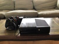 XBox 360 250GB with 2 Controllers and Games