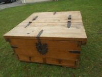 Old Chunky Pitch Pine Chest/Trunk/Coffee Table