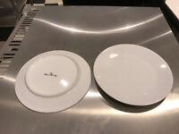 8 inch white Royal Porcelain plates x 69
