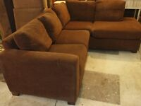 2pc.brown corner - unit quality used.