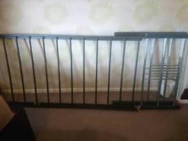 Single black matt and chrome bed frame