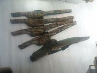 Carp fishing Shimano tribal xt and tribal ev rod bags