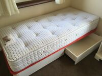 Single bed with divan base and mattress - FREE