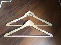 65 Wooden Coat Hangers