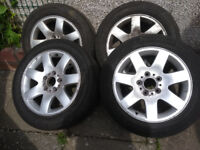 16 inch BMW E46 alloy wheels and 205/55/16 tyres