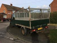2008 transit double cab dropside with cage