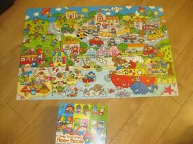 GIANT FLOOR PUZZLE for little ones MY BUSY DAY - IMMACULATE & BOXED