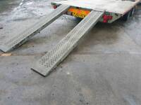 Pair of genuine ifor williams 8ft trailer loading ramps fully galvanised