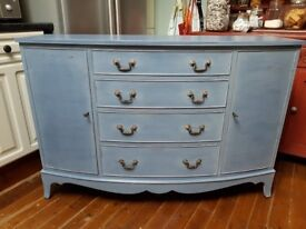 Freshly painted sideboard