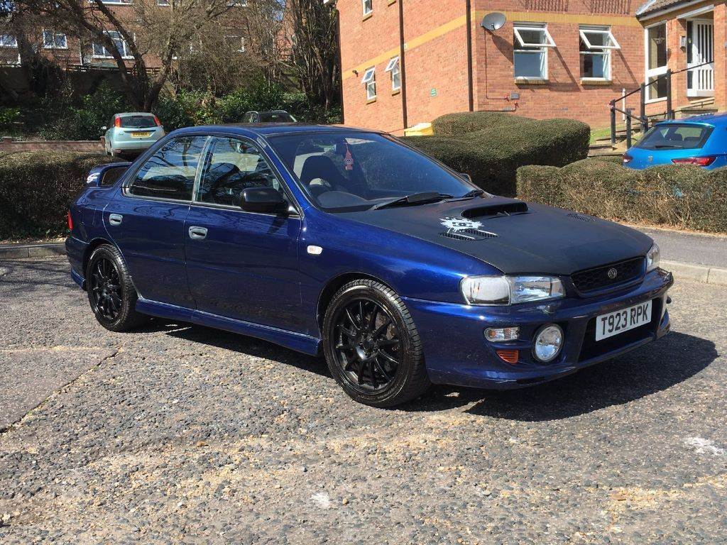 1999 subaru impreza turbo 2000 awd blue td05 turbo modified in high wycombe buckinghamshire. Black Bedroom Furniture Sets. Home Design Ideas