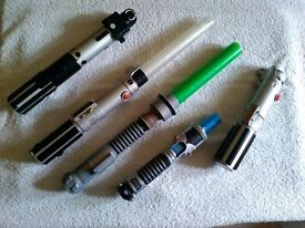 Collection of light sabers -good light and sound