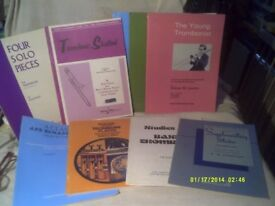 TROMBONE MUSIC BOOKS , as In PICTURES 8 or 9 In ALL . +++++