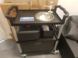 preowned portable mobile sink hot handwash unit