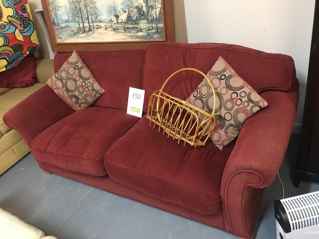 Red 3 seat sofa