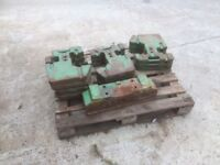 John Deere tractor weights and carrier