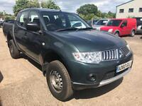 2010 Mitsubishi L200 4work, 2.5 did, D/cab, 4x4 pick up, 1 owner from new great work truck!