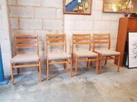 4 x Mid Century Teak Retro Chairs