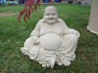 Lovely Buddha Garden Ornament Statue Stone Concrete.
