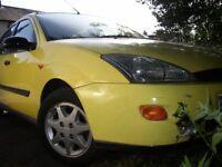 Ford Focus Millenium Number 408 Yellow Short MOT.