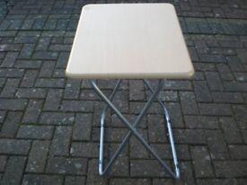 FOLDAWAY TABLE WOODEN TOP STEEL LEGS.