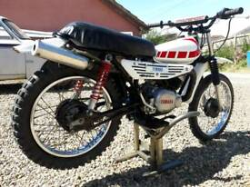 YAMAHA MX 100 CLASSIC MOTOCROSS VINTAGE TRIALS SCRAMBLER PROJECT TY 80 50 YZ DT 125 PW EVO