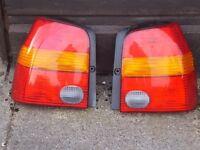 SEAT AROSA 1999 / VW LUPO COMPLETE REAR LIGHT UNITS x 2
