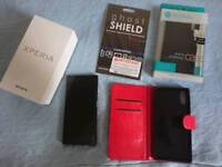 Sony Xperia XZ, Black, Unlocked, Boxed, Accessories, Nilkin, Ghost Shield
