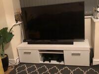 White TV stand white