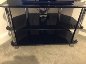 TV stand - black glass, excellent condition
