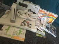 Wii Console, Remotes, Wii Fit and Games Bundle